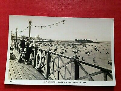 £4.99 • Buy Vintage Postcard RP New Brighton Sands And Fort From The Pier