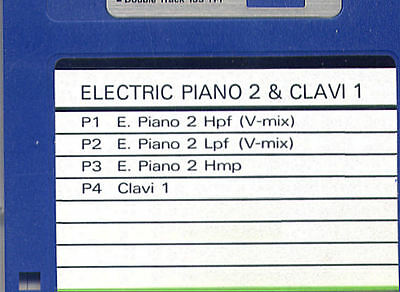 AU6.81 • Buy ELECTRIC PIANO & CLAVINET - ROLAND W-30 Formatted SOUND DISK