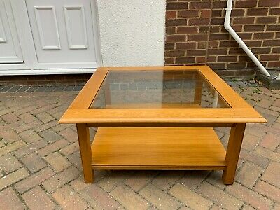 £55 • Buy Marks And Spencer Oak Framed Coffee Table With Glass Top