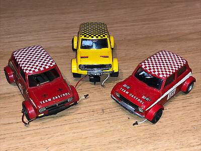 £12.50 • Buy Scalextric C122 Mini 1275GT X3 Vintage 80s Spares Or Repairs Red Yellow
