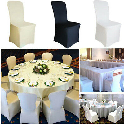 £11.59 • Buy 50-100PCS Chair Covers Spandex Stretch Wedding Banquet Anniversary Party Event