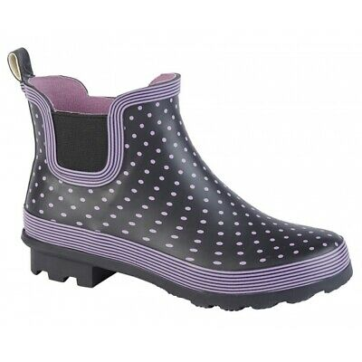 £20.99 • Buy Stormwells Ladies Womens Spotty Rubber Ankle Wellington Short Welly Boot W407M