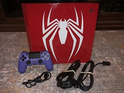 AU525.29 • Buy Sony PlayStation 4 Pro 1TB Spider-Man Red Limited Edition PS4 Console