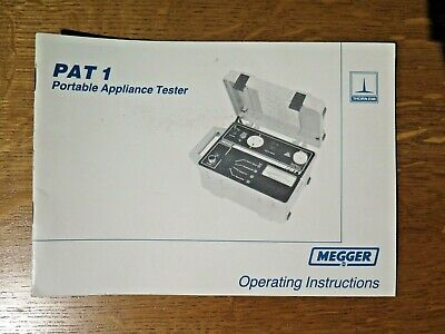 £3.95 • Buy Thorn EMI MEGGER PAT1 Portable Appliance Tester - Operating Instructions Booklet