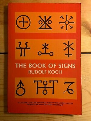 AU6.72 • Buy The Book Of Signs Rudolf Koch Dover Paperback Very Good Runes Symbology