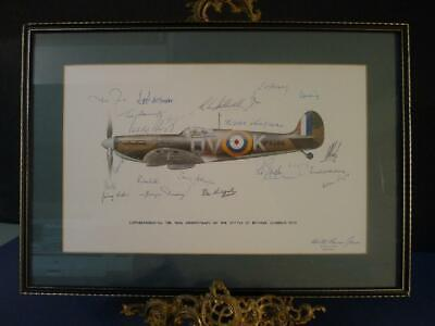 £195 • Buy Signed By 23 RAF Pilots Who All Flew The Spitfire During The Battle Of Britain.