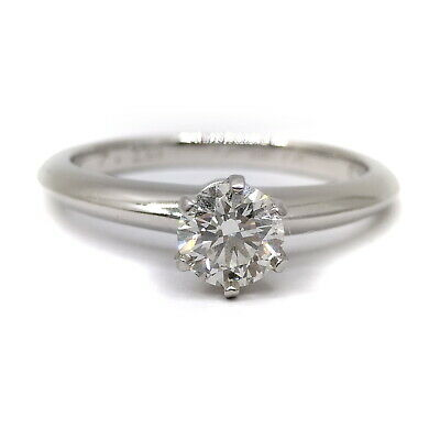 AU765.12 • Buy Tiffany And Co. Ring  Solitaire Diamond 0.47ct Platinum 1815371