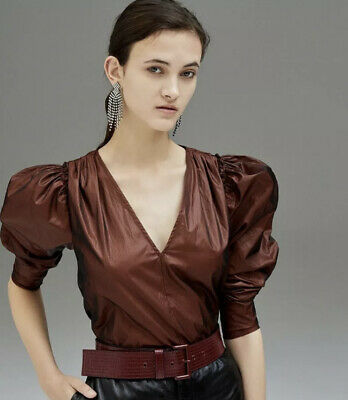 AU54.99 • Buy Scanlan And Theodore Glossy Blouse In Bronze Sz 6