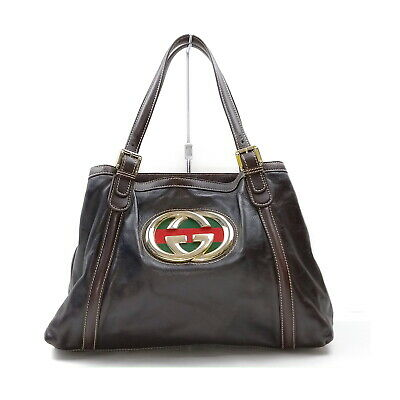 AU75.43 • Buy Gucci Tote Bag  Browns Leather 1430418