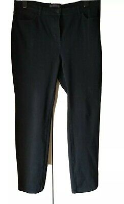 £4.20 • Buy Ladies M&S Collection Black Jean Style Trousers Size 16 Medium Straight Leg Used
