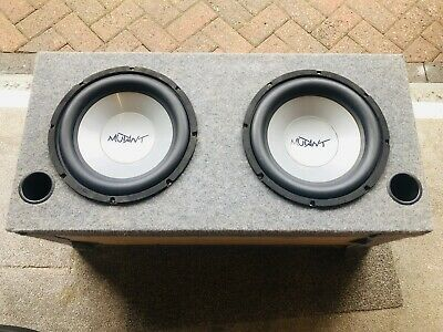 """£95 • Buy Two 12"""" Mutant Sub Subwoofer Speakers In A Heavy Duty MDF Ported Enclosure."""