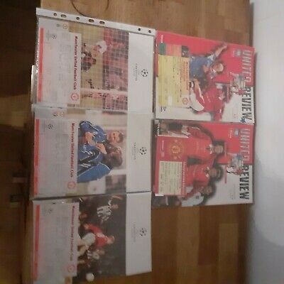 £3 • Buy Manchester United Programmes 1997/98 ×5 With Tickets Bulk