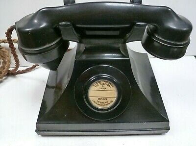 £62 • Buy Gpo Strowger Siemens Bakelite Telephone 312 Cb In Good Condition Not Tested