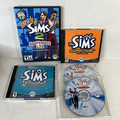 £14.46 • Buy Sims Game Lot Apartment Life 2 Expansion Pack Superstar Unleashed Deluxe Edition