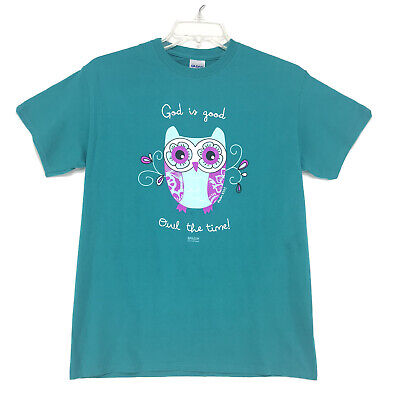 £11.57 • Buy Kerusso Christian Tee T Shirt Womens M Owl Graphic GOD IS GOOD Psalm 100:5