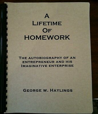 £20.33 • Buy A LIFETIME OF HOMEWORK Recommended By Dan Kennedy 45 Yrs Of Information Selling