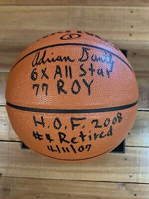 AU100 • Buy Adrian Dantley Signed Ball Nba Hall Of Fame Rookie Of The Year  Jazz Certified