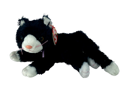 £5.99 • Buy Ty Beanie Babies - BOOTIES The Black And White Cat / Kitten Soft Toy