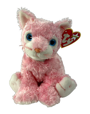 £4.99 • Buy Ty Beanie Babies - CARNATION The Pink Cat / Kitten Soft Toy | Plush