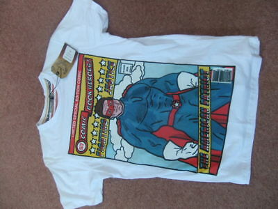 £3.49 • Buy BNWT BRAVE SOUL Size S COMIC BOOK HEROES Print TOP T-Shirt THE AMERICAN PATRIOT