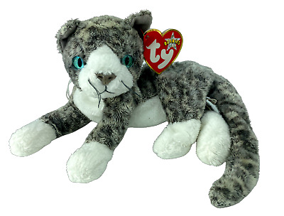 £5.99 • Buy Ty Beanie Babies - PURR The Grey Cat Soft Toy