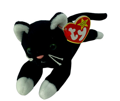 £9.99 • Buy Ty Beanie Babies - ZIP The Black And White Cat / Kitten Soft Toy