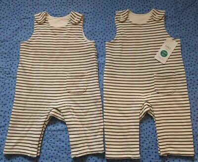 £4 • Buy 🐥TWIN Baby Clothes BNWT 🐥 Dungarees 0-3 Months M&S Boys Girls Unisex