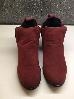 £3.20 • Buy Burgundy Wine Red Ankle Boots Size 8 New Not Worn
