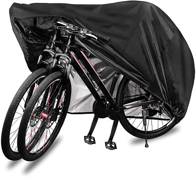 £14.61 • Buy Bike Cover For 2 Bikes, 210D Premium Polyester Waterproof Bicycle Cover With &