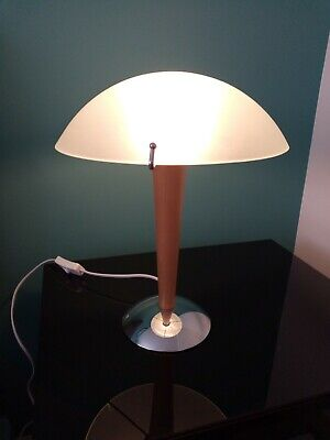 £9 • Buy Vintage IKEA Table Lamp With Frosted Glass Mushroom Shade