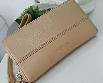 AU55.50 • Buy Beautiful Authentic Beige Real Leather Oroton Clutch Purse NEW