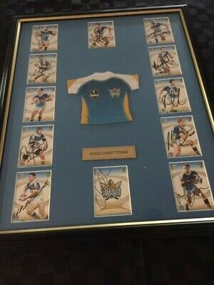 AU39 • Buy Titans Framed Footy Card Picture 2007 First Year At Robina QLD Signed By Players