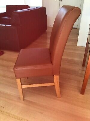 AU800 • Buy Dining Chairs (quality Leather) X 8 - Pick Up Macleod.