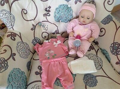 £14 • Buy Baby Annabell 2016 Babbles, Cries Real Tears, Wets Nappy, Sucks Bottle,
