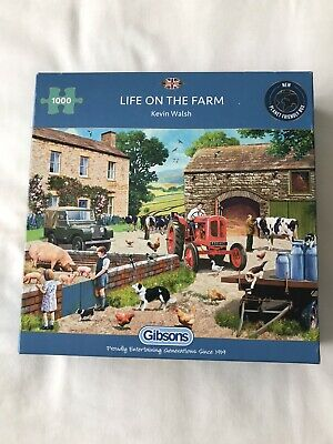 £3 • Buy Gibson  Life On The Farm  Jigsaw Puzzle 1000 Pieces - In Very Good Condition
