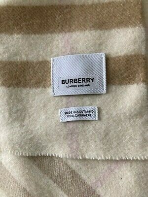 £22 • Buy Soft And Gorgeous Burberry Cashmere Scarf - Never Worn, Ideal Present