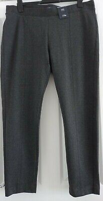 £4.99 • Buy Ladies M & S Jersey Straight Leg Trousers - Size 20 - Charcoal Grey - Nwt