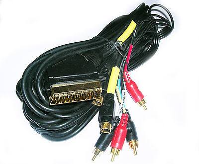 £0.99 • Buy Job Lot 10 X Scart To SVideo SVHS And Phono Male AV + Audio Cable Lead