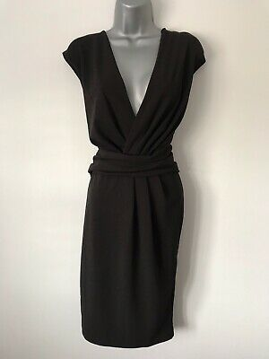 £9.99 • Buy Lipsy BNWT Embellished Black Stretch Ruched Evening Occasion Dress UK Size - 16