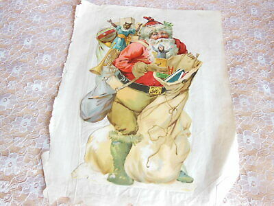 £12.50 • Buy Large Victorian Scrap/Father Christmas With Sack Of Toys