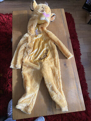 £8 • Buy Childrens Disney Simba The Lion King Dressing Up Costume 2-3 Years