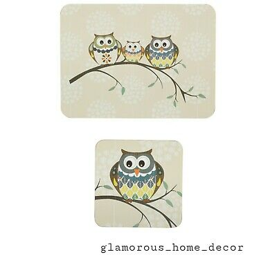 £16.99 • Buy Set Of 6 Owl Placemats & 6 Matching Coasters Dining Dinner Table