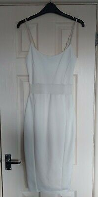 £1.99 • Buy Ladies Miss Selfridge Size 8 White / Cream Cut Out Body Con Going Out Midi Dress