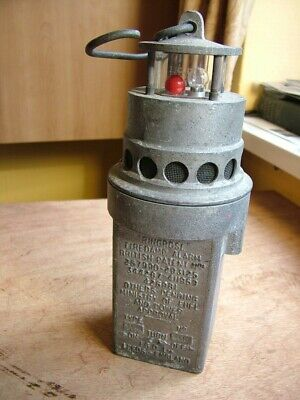 £75 • Buy Antique Miners Safety Lamp Early 1900s Firedamp Alarm  By IGD Gas Detection Ltd