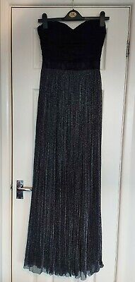 £4.99 • Buy Ladies Rare London Maxi Occasion Prom Strapless Sweetheart Neckline Dress Size 8