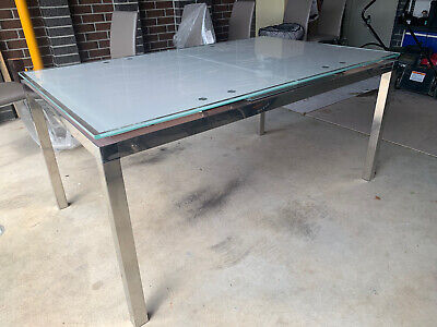 AU180 • Buy Glass Top Extendable Dining Table & 6 Chairs