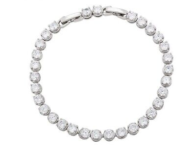 £12.99 • Buy Tennis Bracelet Made With Cubic Zirconia By AT Jewellery