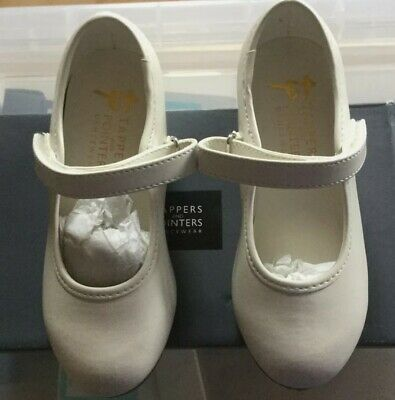 £10.99 • Buy Tap Dancing Shoes For Girls White  Toe Tap Easy Fastening Child 1x5  1x7 1x9 Etc