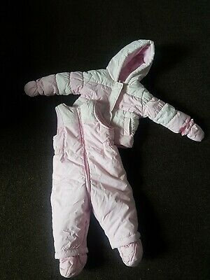 £9.99 • Buy 3-6 Months Baby Girl Saloppetes Skisuit Winter Mothercare
