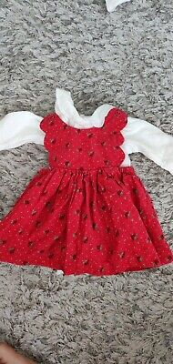 £2 • Buy Baby Girls Pinafore/ Dungaree Christmas Dress/Outfit. Mothercare. Up To 1 Month